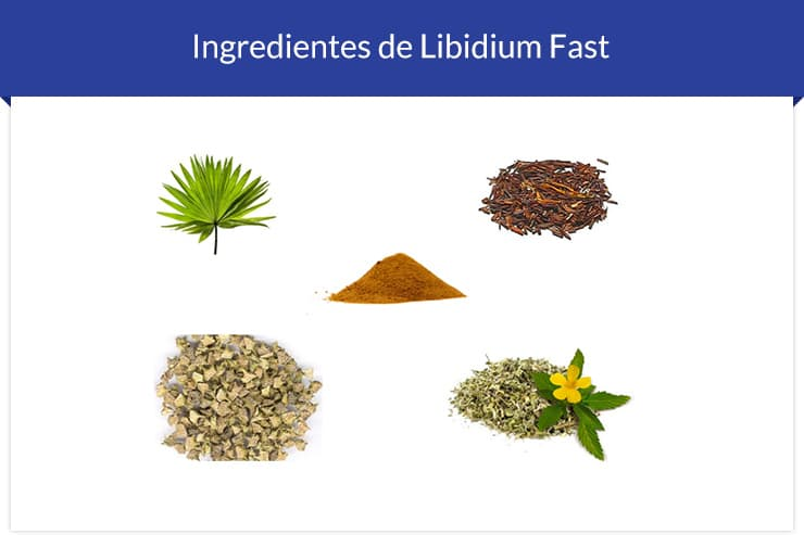 Ingredientes do Libidium Fast