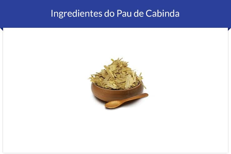 Ingrediente do Pau de Cabinda