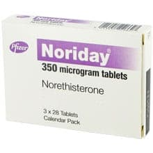 Noriday mit Norethisteron 3x28 Tabletten Verpackung