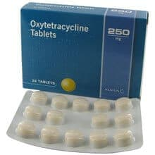Oxytetracycline Blister und Packung