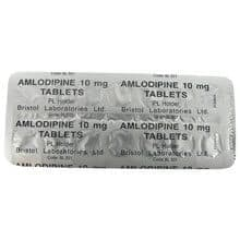 Front and rear view of Amlodipine 5mg tablets blister packs
