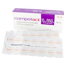Box of Competact 56 tablets with blister pack