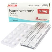 photo Norethisterone retarder ses règles boite tablette