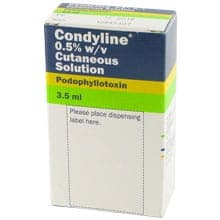 Condyline solution available to buy online for genital warts treatment.